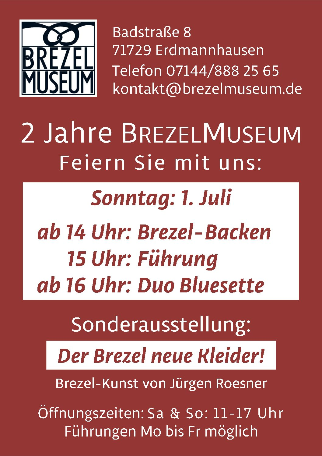 BrezelMuseum feiert 2. Geburtstag