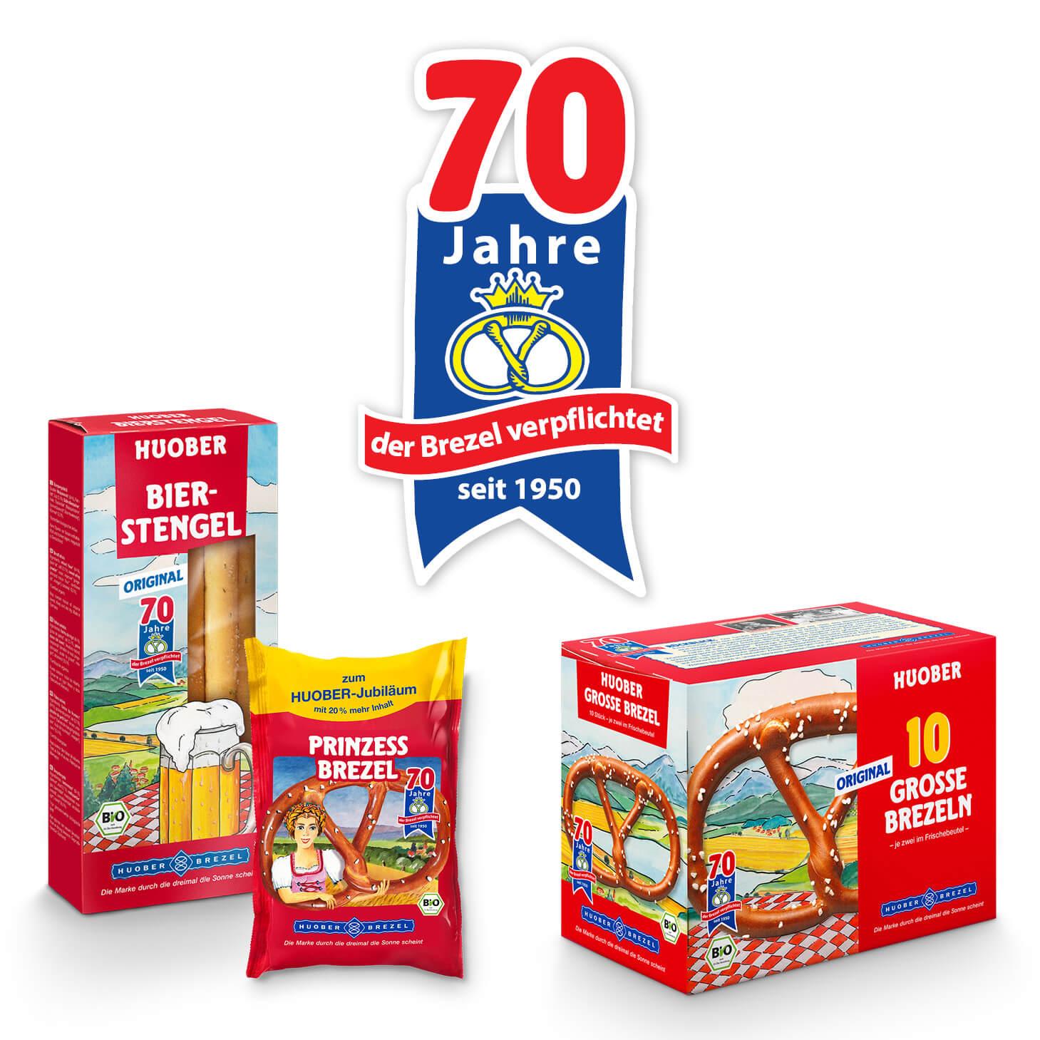 HUOBER 70 Jahre Jubiläums-Verpackungen